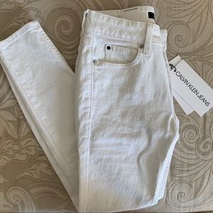 Calvin Klein White Skinny Jeans NEW WITH TAGS